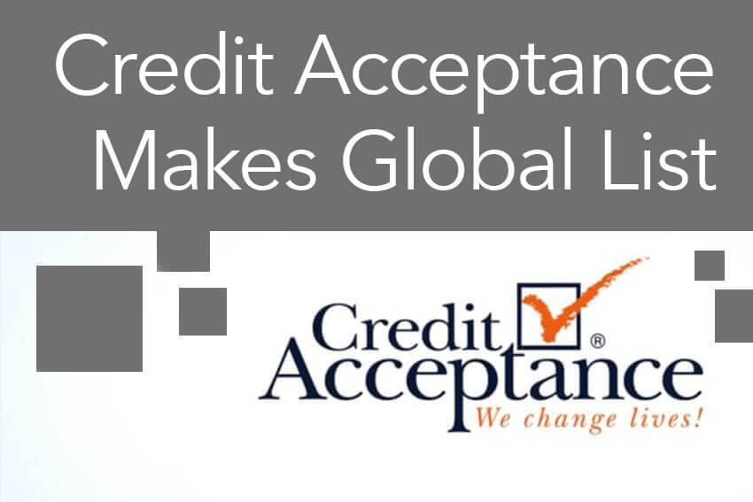 Credit Acceptance Makes Global List