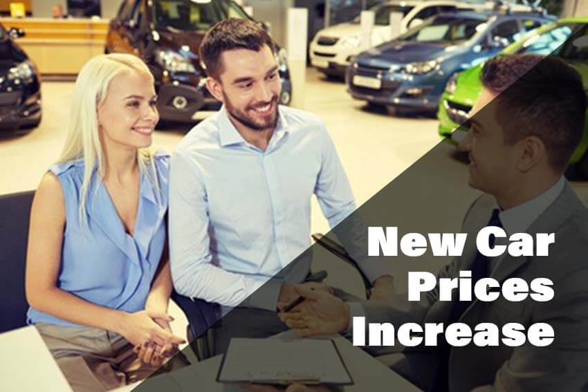 New Car Prices Increase